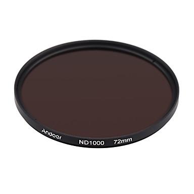 Andoer 72mm nd1000 10 stop fader neutrale dichte filter für nikon canon dslr kamera