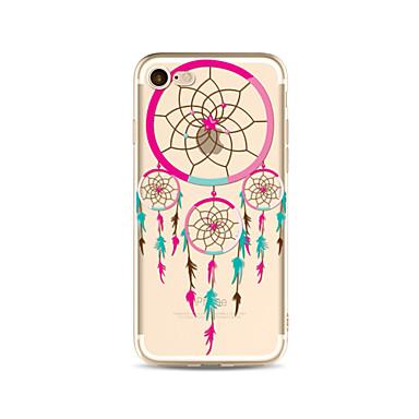 hoesje Voor Apple iPhone X iPhone 8 Plus Transparant Patroon Achterkant Dromenvanger Zacht TPU voor iPhone X iPhone 8 Plus iPhone 8
