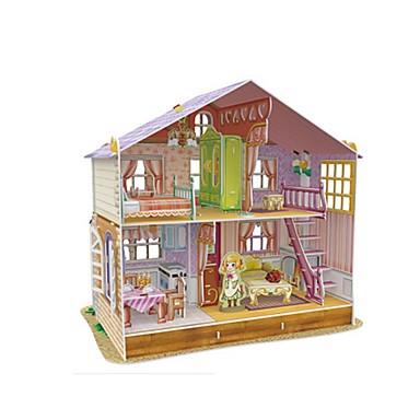 3D - Puzzle Holzpuzzle Puppenhaus Papiermodel Quadratisch Berühmte Gebäude Architektur 3D Hölzern Puppen Mädchen Geschenk