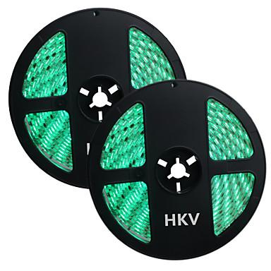 HKV شرائط قابلة للانثناء لأضواء LED 300 المصابيح أخضر أصفر أحمر قابل للقص ضد الماء اللصق التلقي قابلة للربط DC 12V