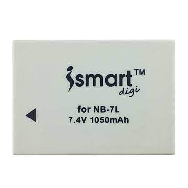 Ismartdigi 7l 7.4V 1050mah baterie pentru camera Canon powershot g10 g11 g12 sx30is