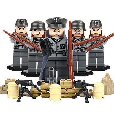 أحجار البناء شخصيات صغيرة ألعاب تربوية ألعاب محارب إيجال العسكرية ABS غير محدد الأطفال قطع