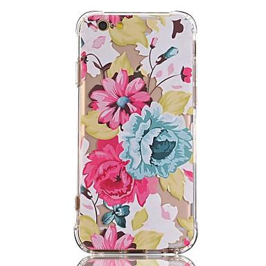 Fall für iphone 7 6 Blume tpu weiche ultradünne rückseitige Abdeckungsfallabdeckung iphone 7 plus 6 6s plus se 5s 5 5c 4s 4