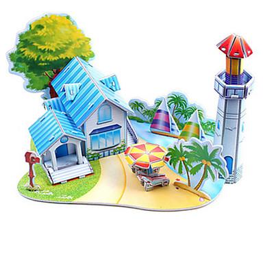 3D - Puzzle Holzpuzzle Strand Spielzeug Modellbausätze Berühmte Gebäude Heimwerken Hartkartonpapier Klassisch Anime Zeichentrick