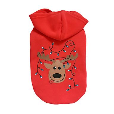 Hund Kapuzenshirts Hundekleidung Weihnachten Lässig/Alltäglich Weihnachten Rentier Rot Kostüm Für Haustiere
