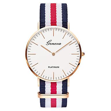 Heren Polshorloge Modieus horloge Vrijetijdshorloge Chinees Kwarts / Nylon Band Luxe Vintage Informeel Elegant Zwart Bruin