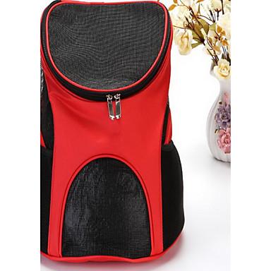 Kat Hond Dragers & Reistassen voorzijde Backpack Huisdieren Dragers draagbaar Ademend Effen Bruin Rood Lichtblauw