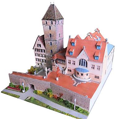 قطع تركيب3D نموذج الورق مجموعات البناء أشغال الورق ألعاب بناء مشهور معمارية 3D اصنع بنفسك محاكاة للجنسين قطع