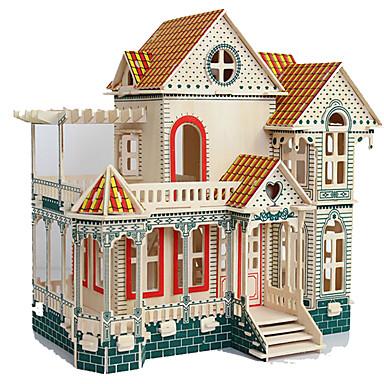 قطع تركيب3D تركيب مجموعات البناء ألعاب مستطيل بناء مشهور معمارية الخشب الطبيعي غير محدد الفتيان قطع