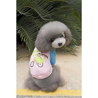 Câine Hanorca Îmbrăcăminte Câini Desene Animate Negru Portocaliu Gri Galben Roz Bumbac Jos Costume Pentru animale de companie Casul /