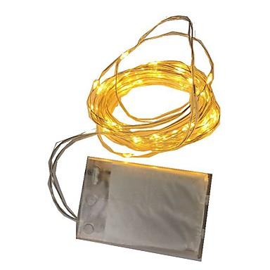 2m Fâșii de Iluminat 20 LED-uri Alb Cald / RGB / Alb Baterie / IP65