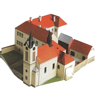 Puzzle 3D Modelul de hârtie Lucru Manual Din Hârtie Μοντέλα και κιτ δόμησης Pătrat Clădire celebru Casă Arhitectură 3D Reparații Hârtie