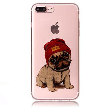 hoesje Voor Apple iPhone 7 Plus iPhone 7 IMD Patroon Achterkant Hond Glitterglans Zacht TPU voor iPhone 7 Plus iPhone 7 iPhone 6s Plus