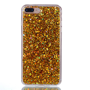 Voor iPhone X iPhone 8 Hoesje cover Doorzichtig Achterkantje hoesje Glitterglans Hard Acryl voor Apple iPhone X iPhone 7s Plus iPhone 8