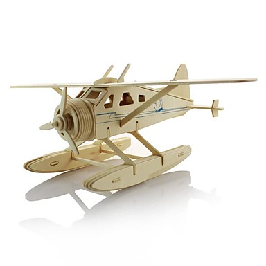 3D - Puzzle Holzpuzzle Modellbausätze Spielzeuge Flugzeug Kämpfer 3D Heimwerken Hölzern Kinder Jungen Stücke