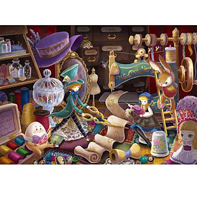 Puzzle Castel Clădire celebru Desen animat Lemn Unisex Cadou