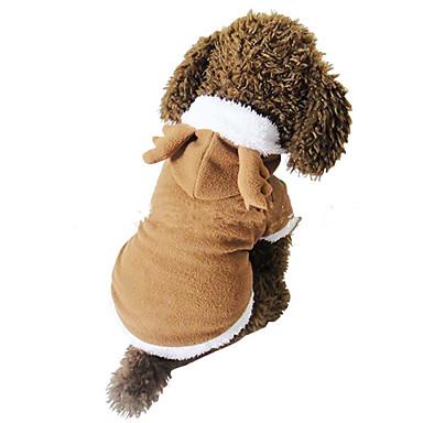 Hond kostuums Hondenkleding Kerstmis Effen Wit Bruin Willekeurige kleur Kostuum Voor huisdieren