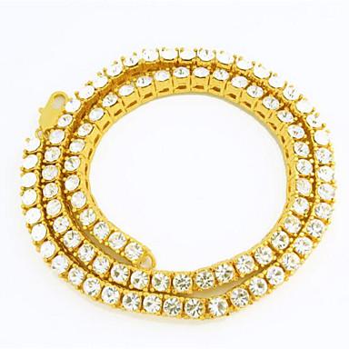 محظوظ دمية الرجال 6 ملليمتر سلسلة القلائد حجر الراين مطلية بالذهب سبيكة الأساسية الشرير مجوهرات ل هدية عيد مكتب اليومي&مهنة