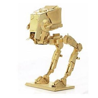 Robot Puzzle 3D Puzzle Puzzle Metal Μοντέλα και κιτ δόμησης Jucarii Altele Aparat Robot 3D Reparații Educație Teak Crom MetalPistol de