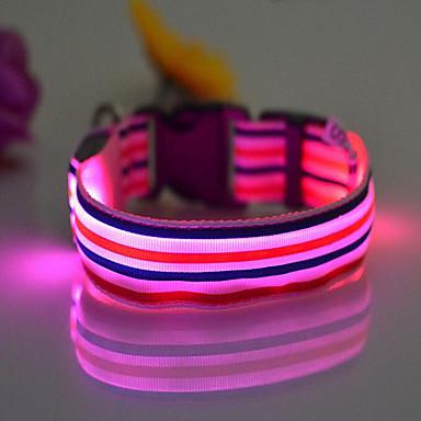 Kraag draagbaar LED-licht Verstelbaar Regenboog Nylon