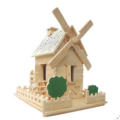3D - Puzzle Holzpuzzle Modellbausätze Berühmte Gebäude Architektur 3D Heimwerken Naturholz Klassisch Kinder Unisex Geschenk