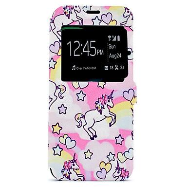 Hülle Für Samsung Galaxy S8 Plus S8 Kreditkartenfächer mit Halterung Muster Ganzkörper-Gehäuse Einhorn Hart PU-Leder für S8 Plus S8 S7