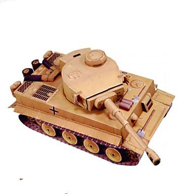3D-puzzels Bouwplaat Vierkant Tank DHZ Hard Kaart Paper Kinderen Jongens Unisex Geschenk