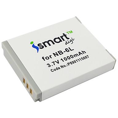 Ismartdigi 6l 3.7v baterie 1000mah camera pentru canon ixus 95 210 105 310 s90 s95 sx500