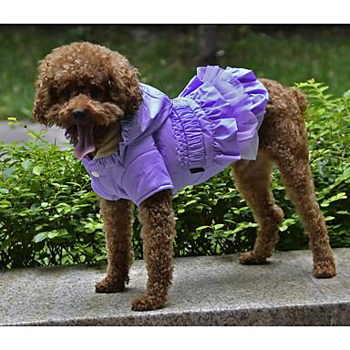 Câine Haine Îmbrăcăminte Câini Mată Negru Mov Fucsia Verde Roz Jos Terilenă Costume Pentru animale de companie Keep Warm