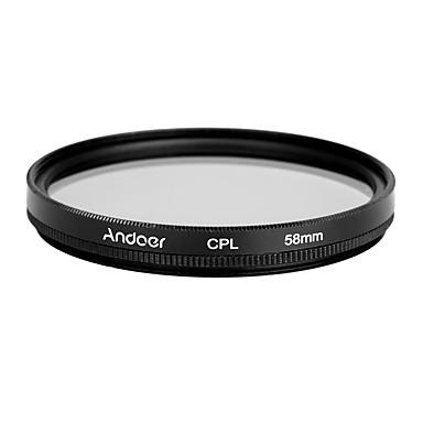 Andoer 58mm digitale slim cpl circular polarizator filtru de sticlă polarizant pentru canon nikon sony dslr obiectiv camera