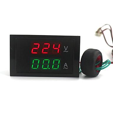 ψηφιακή διπλής ac οθόνη βολτόμετρο αμπερόμετρο (100 ~ 300V / 0 ~ 100)