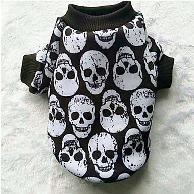 Hond Jassen Sweatshirt Hondenkleding Casual/Dagelijks Doodskoppen Wit Zwart Zwart/Wit Regenboog