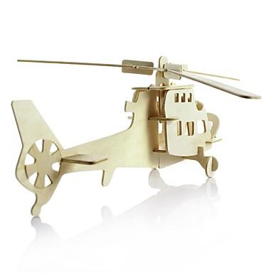 3D-puzzels Legpuzzel Hout Model Modelbouwsets Speeltjes Vliegtuig Vechter 3D DHZ Simulatie Puinen Hout Kinderen Stuks