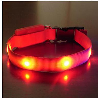 Kraag draagbaar LED-licht Veiligheid Verstelbaar Effen Nylon