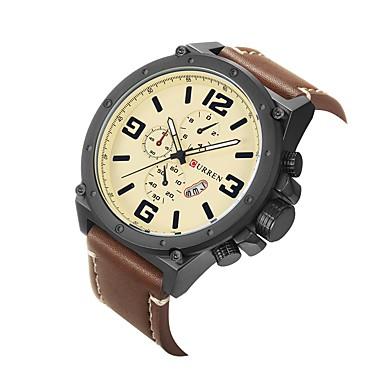 Herrn Sportuhr Kleideruhr Modeuhr Armbanduhr Einzigartige kreative Uhr Chinesisch Quartz Kalender Wasserdicht Großes Ziffernblatt Echtes