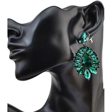 Damen Tropfen-Ohrringe Strass Basis Kreisförmiges Einzigartiges Design Anhänger Stil Strass Kreis Freundschaft Hypoallergen
