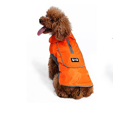 Hond Gilet Hondenkleding Effen Zwart Oranje Polyesteri Kostuum Voor huisdieren Zomer Heren Dames Casual / Dagelijks Vakantie Cosplay