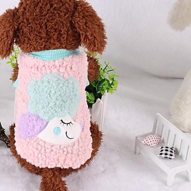Câine Haine Îmbrăcăminte Câini Desene Animate Bumbac Jos Costume Pentru animale de companie Casul/Zilnic