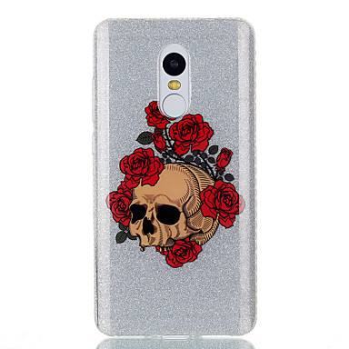 Hülle Für Xiaomi IMD Muster Rückseitenabdeckung Totenkopf Motiv Blume Weich TPU für Xiaomi Redmi Note 4X Xiaomi Redmi 4a Xiaomi Redmi 3S