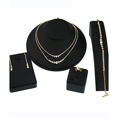 Pentru femei Ștras Ștras Set bijuterii - Γεωμετρικά / Pandantiv / Multi-moduri Wear Geometric Shape Auriu / Argintiu Seturi de bijuterii