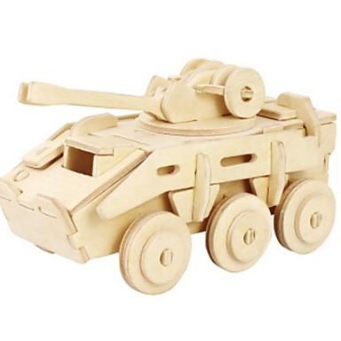 Robotime 3D - Puzzle Holzpuzzle Holzmodelle Panzer Löwe 3D Heimwerken Holz Naturholz Unisex Geschenk