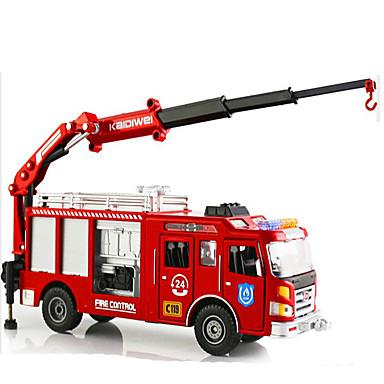 KDW Jucării pentru mașini Model Mașină Motocicletă Vehicul Pompieri Jucarii Retractabil Simulare Dreptunghiular Mașini de Pompiere Aliaj