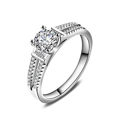 Dames Ring Sieraden Cirkelvormig ontwerp Klassiek Cirkel Vriendschap Euramerican Eenvoudige Stijl Verzilverd Rond Sieraden Bruiloft