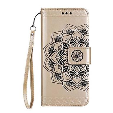 Maska Pentru Samsung Galaxy J7 Prime J5 Prime Portofel Titluar Card Întoarce Embosat Model Corp Plin Mandala Floare Greu PU Piele pentru