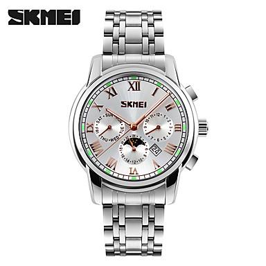 SKMEI Bărbați Ceas La Modă Ceas de Mână Quartz Oțel inoxidabil Bandă Argint