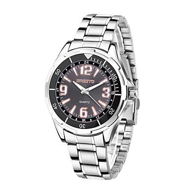 Heren Dress horloge Modieus horloge Kwarts Hot Sale Roestvrij staal Band Informeel Zilver