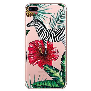 Pentru Apple iPhone 7 7 plus coperta de caz model de zebră pictat de înaltă penetrare tpu material caz moale caz telefon pentru iphone 6s