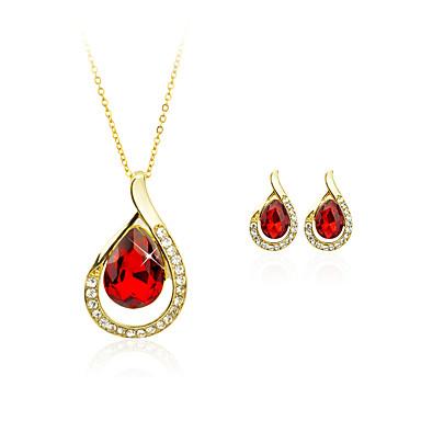 Per donna Cristallo Placcato in oro goccia Parure di gioielli - Geometrico / Circolare / Pendente Bianco / Rosso / Blu Collane con