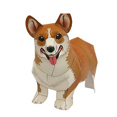مجموعة اصنع بنفسك قطع تركيب3D نموذج الورق ألعاب مربع كلاب 3D الحيوانات اصنع بنفسك غير محدد قطع