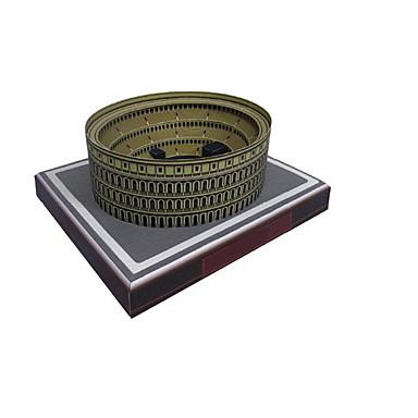 Puzzle 3D Modelul de hârtie Μοντέλα και κιτ δόμησης Lucru Manual Din Hârtie Jucarii Circular Clădire celebru Arhitectură 3D Reparații